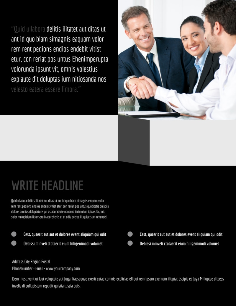 Pro Business Insurance Flyer Template Preview 3