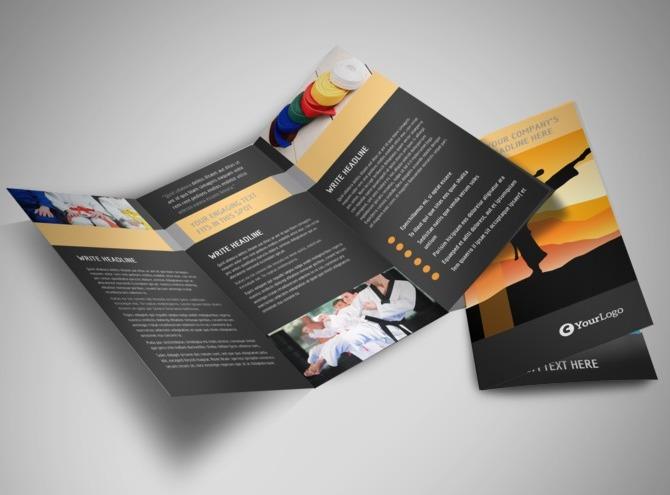 martial arts brochure template