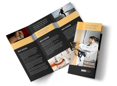martial arts academy brochure template mycreativeshop