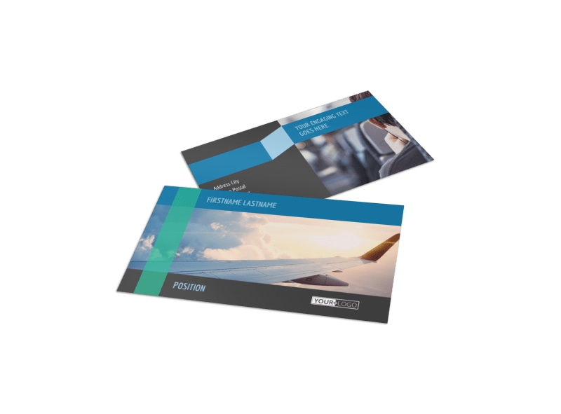 Aircraft Charter Business Card Template