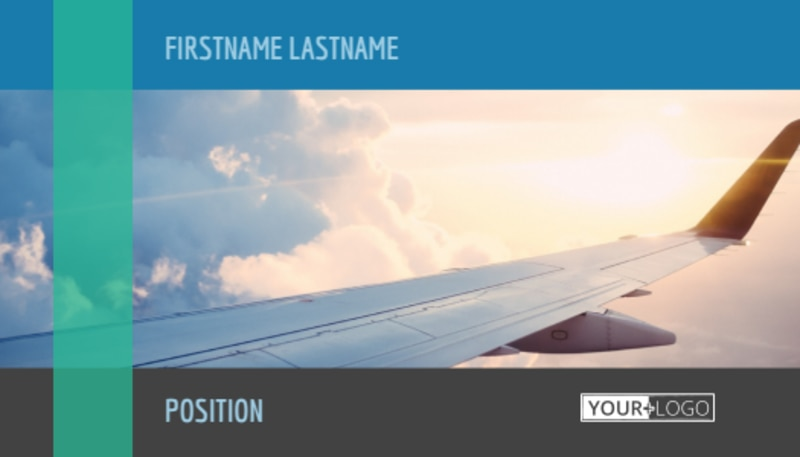 Aircraft Charter Business Card Template Preview 2