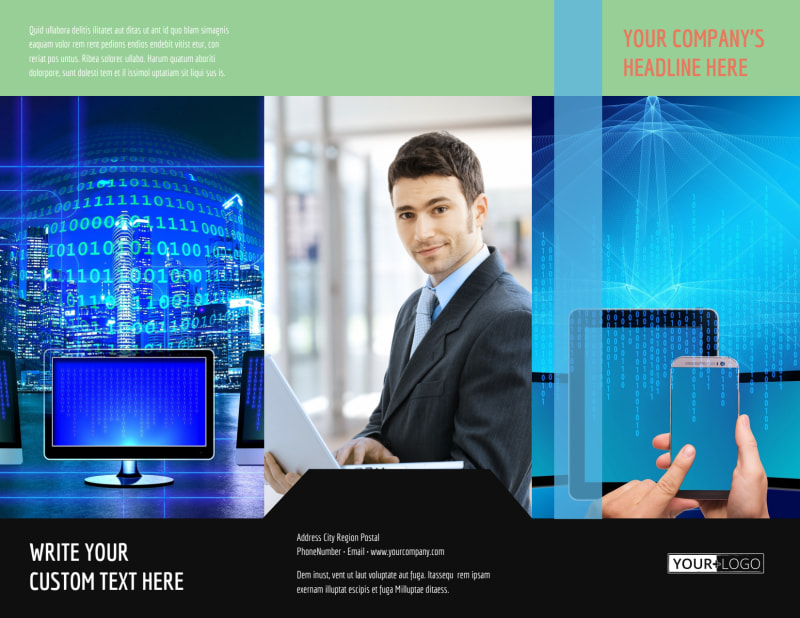 Local IT Consultants Brochure Template Preview 2