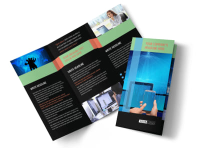 Local IT Consultants Tri-Fold Brochure Template