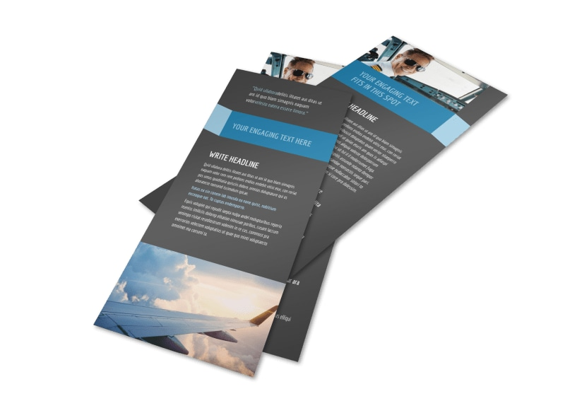 Aircraft Charter Flyer Template 2