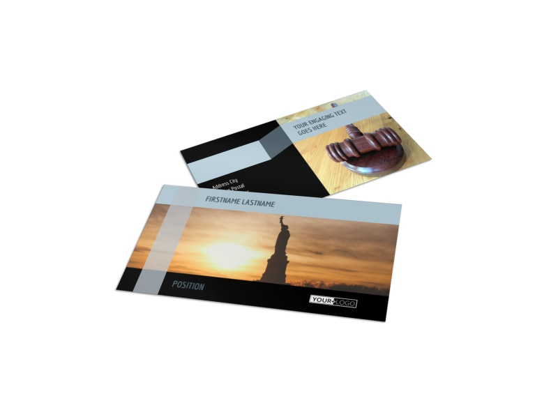 Immigration Attorney Business Card Template MyCreativeShop - Lawyer business card templates