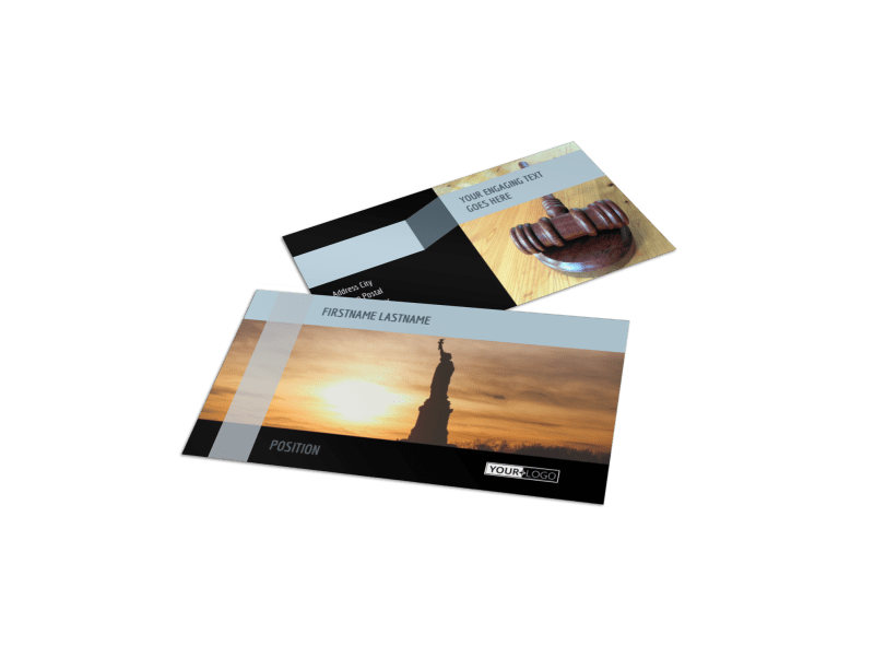 Immigration Attorney Business Card Template Preview 1