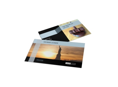 Immigration Attorney Business Card Template preview