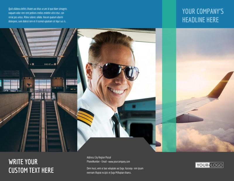 Aircraft Charter Brochure Template Preview 2
