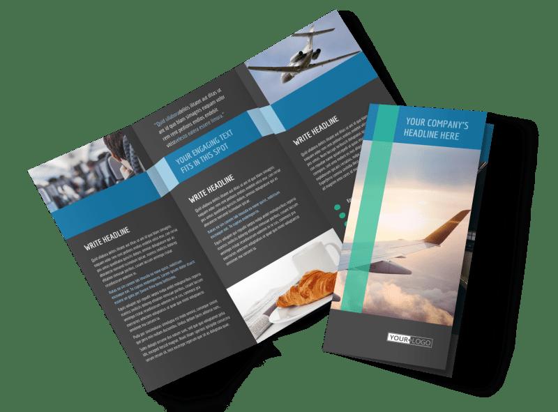 Aircraft Charter Brochure Template Preview 1