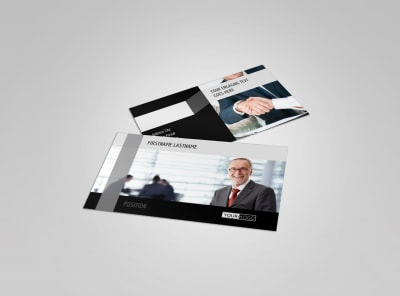 Pro Business Insurance Business Card Template preview