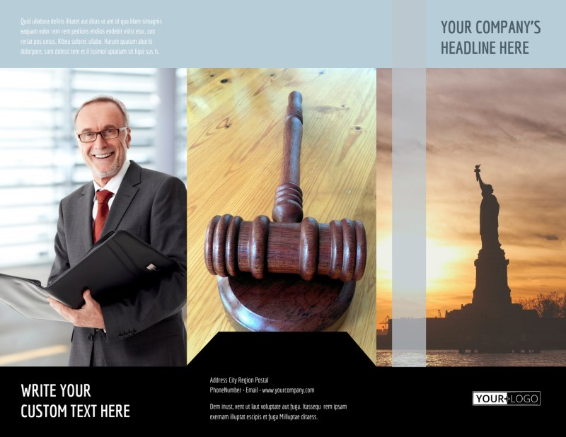 Immigration Attorney Brochure Template Preview 2
