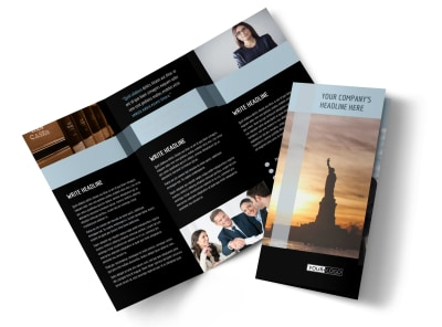 Immigration Attorney Tri-Fold Brochure Template preview