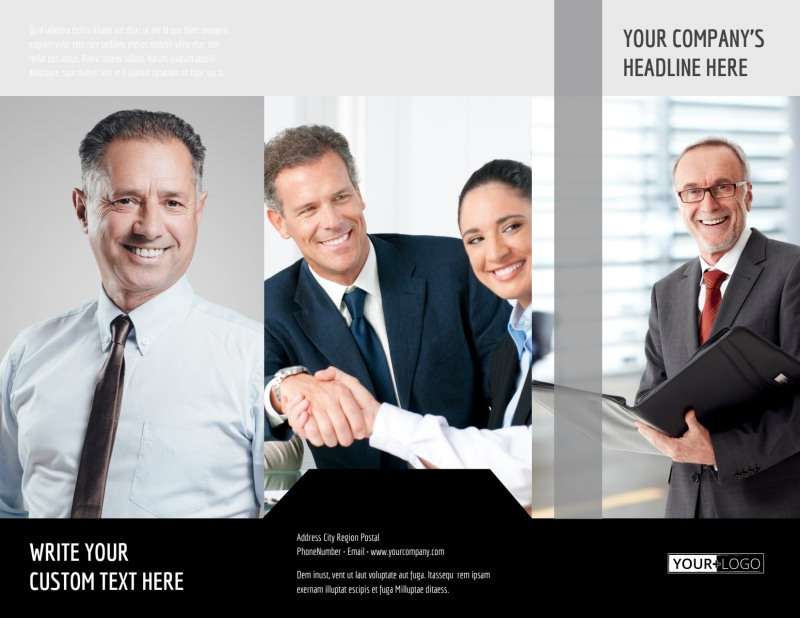 Pro Business Insurance Brochure Template Preview 2