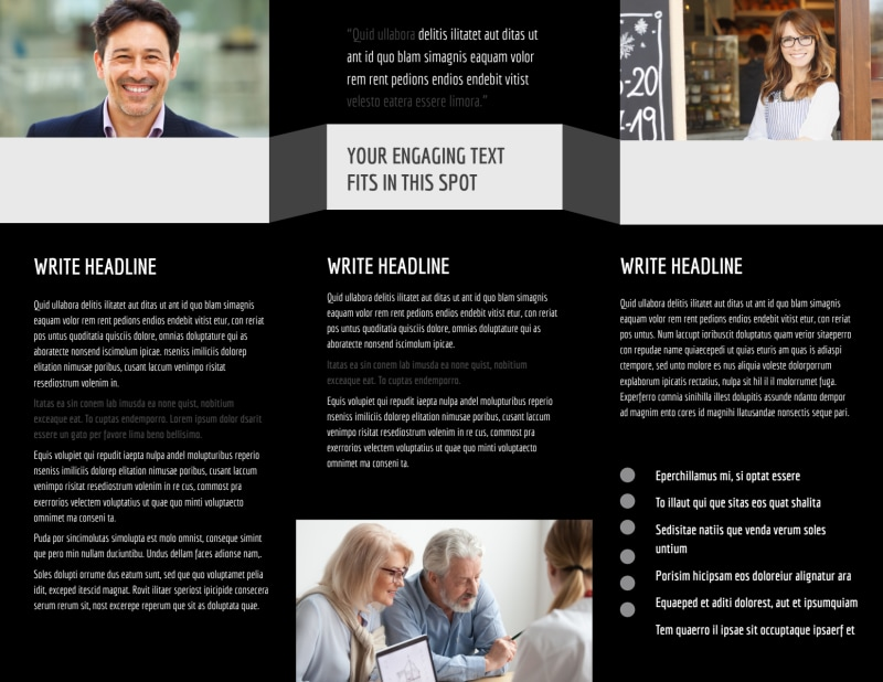 Pro Business Insurance Brochure Template Preview 3