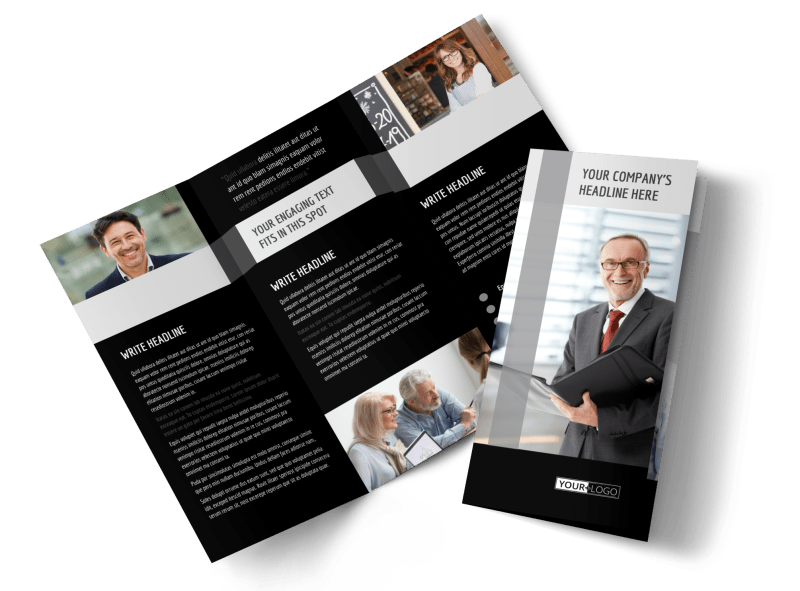 Pro Business Insurance Brochure Template Preview 1