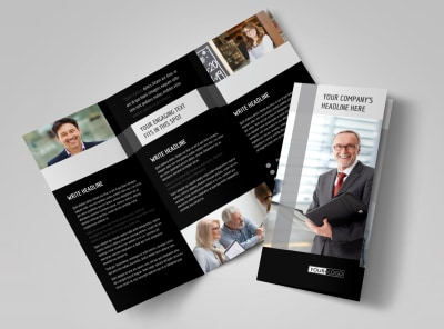 Pro Business Insurance Tri-Fold Brochure Template