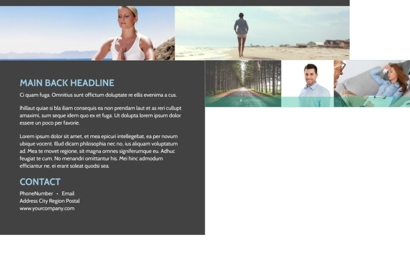 Addiction & Rehab Clinic Postcard Template Preview 3