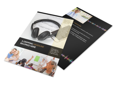 Hearing Specialists Flyer Template 3