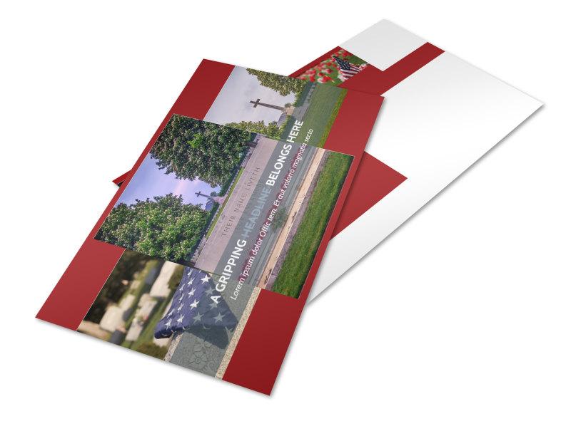 Memorial Services Postcard Template 2