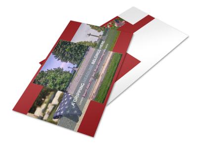 Memorial Services Postcard Template 2 preview