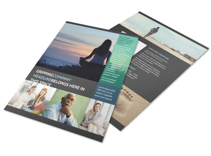 Addiction & Rehab Clinic Flyer Template Preview 4