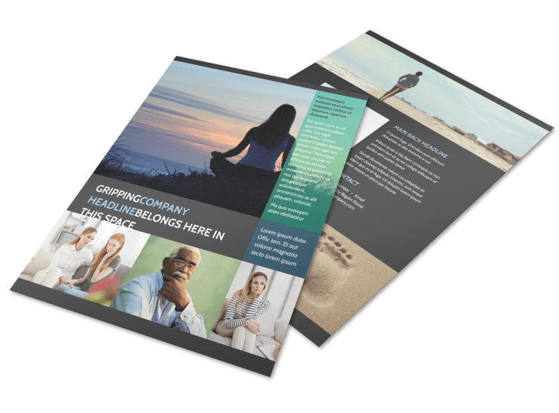 Addiction & Rehab Clinic Flyer Template Preview 1
