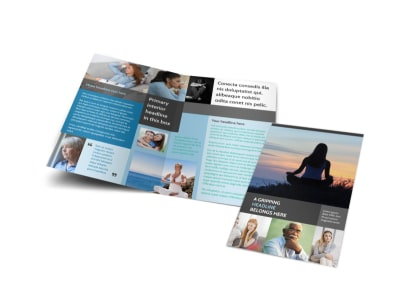 addiction rehab clinic bi fold brochure template - Clinic Brochure Template