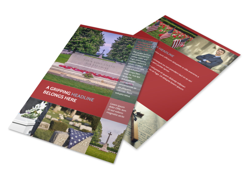 Memorial Services Flyer Template 3