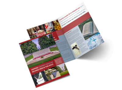 Memorial Services Bi-Fold Brochure Template 2
