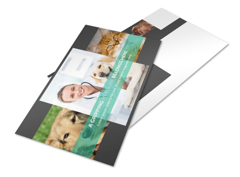Veterinarian Postcard Template 2
