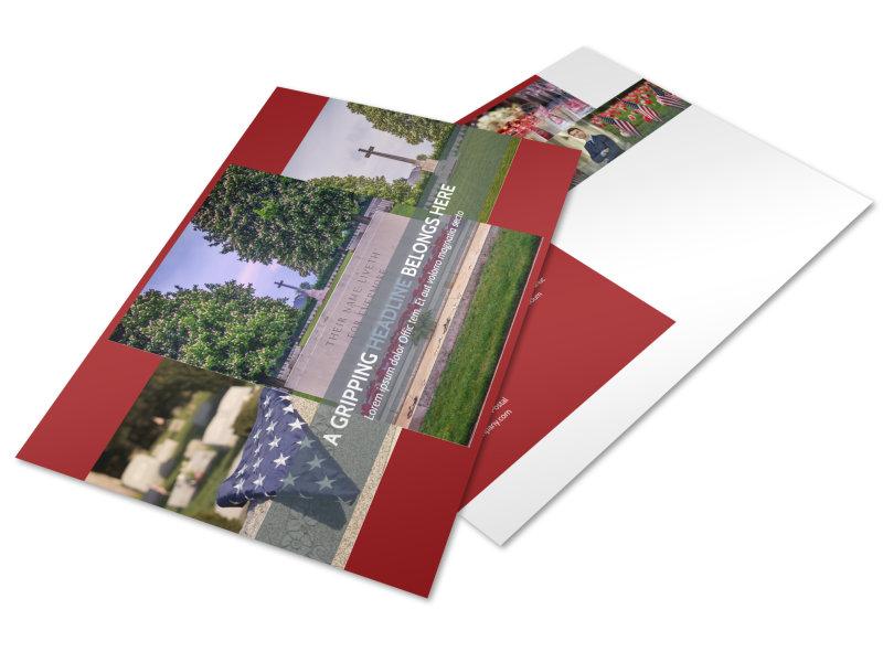 Memorial Services Postcard Template Preview 4