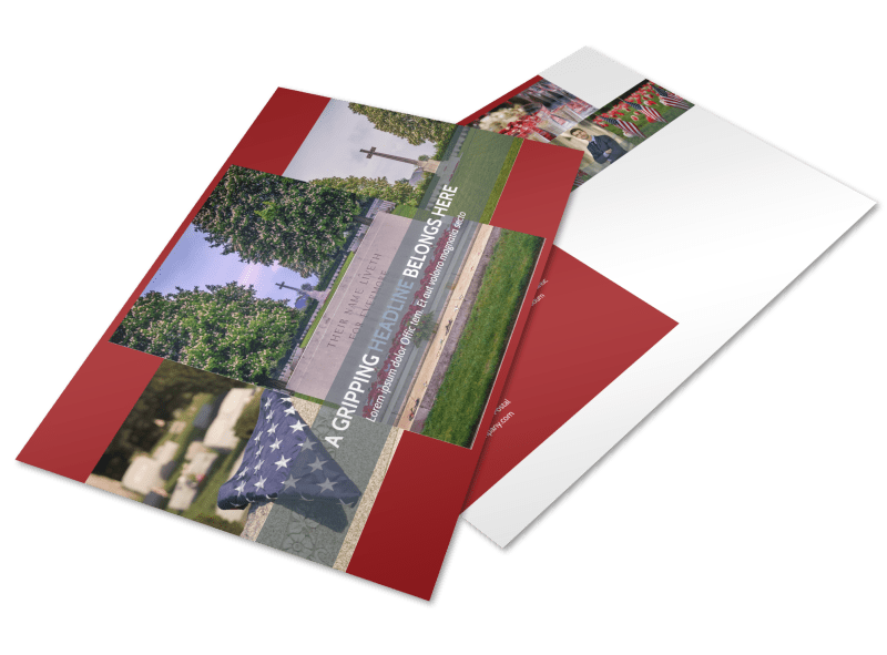 Memorial Services Postcard Template Preview 1