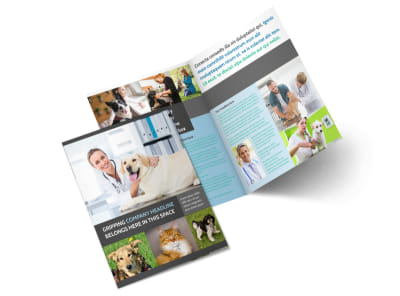 Veterinarian Bi-Fold Brochure Template 2