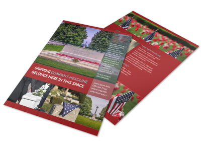 Memorial Services Flyer Template preview