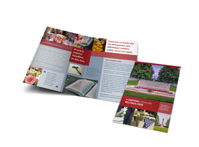 Memorial Services Bi-Fold Brochure Template preview