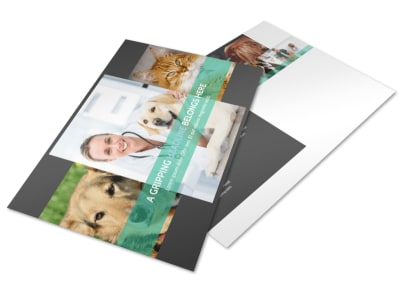 Veterinarian Postcard Template preview