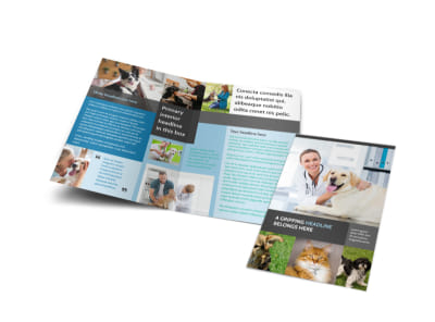 Veterinarian Bi-Fold Brochure Template