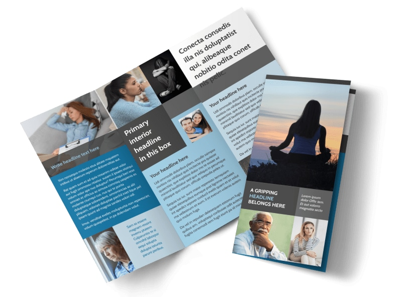 addiction rehab clinic brochure template