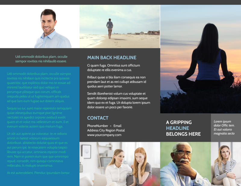 Addiction & Rehab Clinic Brochure Template Preview 2