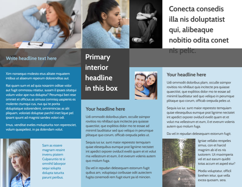 Addiction & Rehab Clinic Brochure Template Preview 3