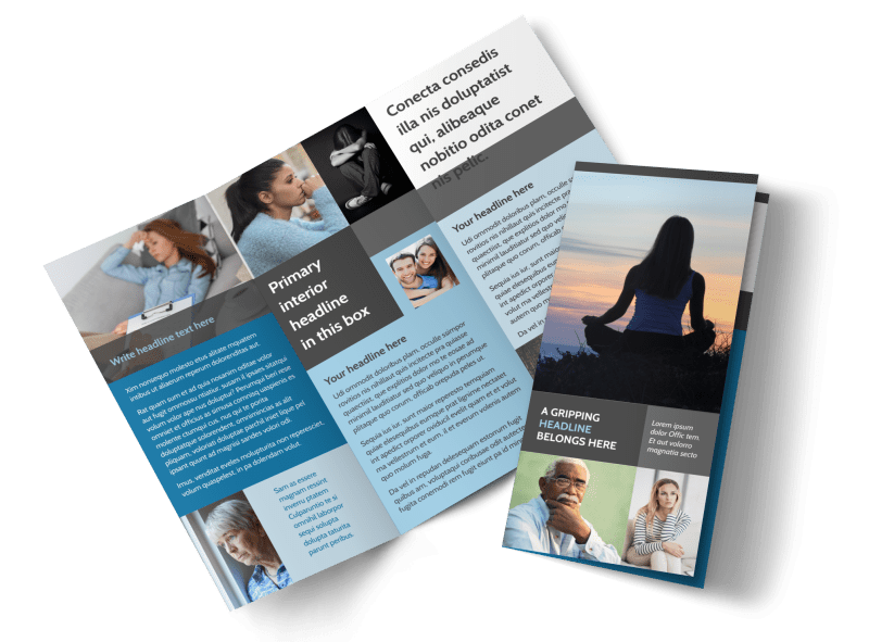 Addiction & Rehab Clinic Brochure Template Preview 1