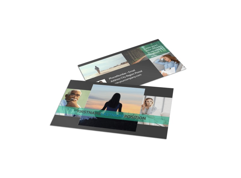 Addiction & Rehab Clinic Business Card Template Preview 4