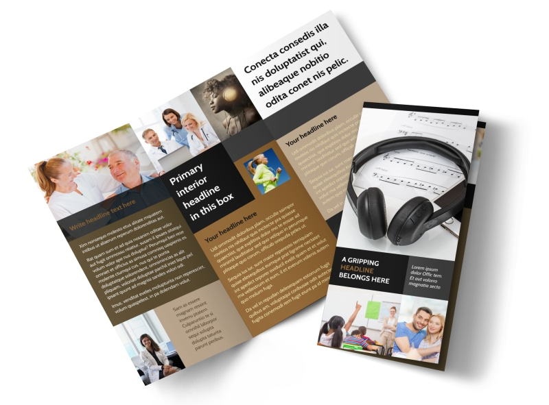 Hearing Specialists Tri-Fold Brochure Template