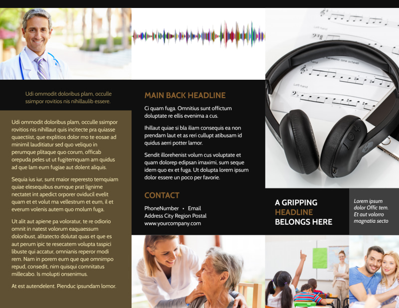Hearing Specialists Brochure Template Preview 2
