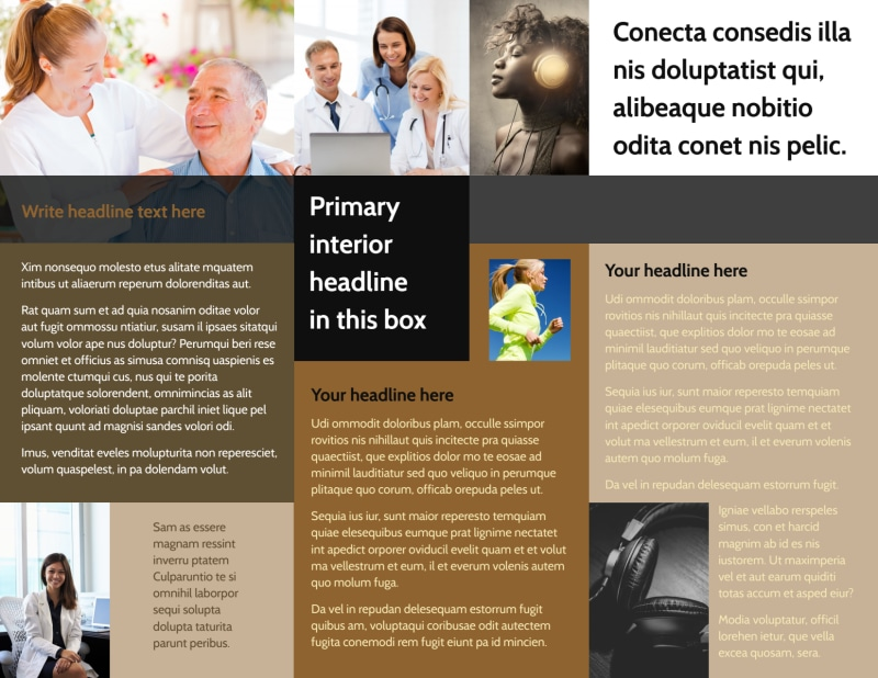 Hearing Specialists Brochure Template Preview 3