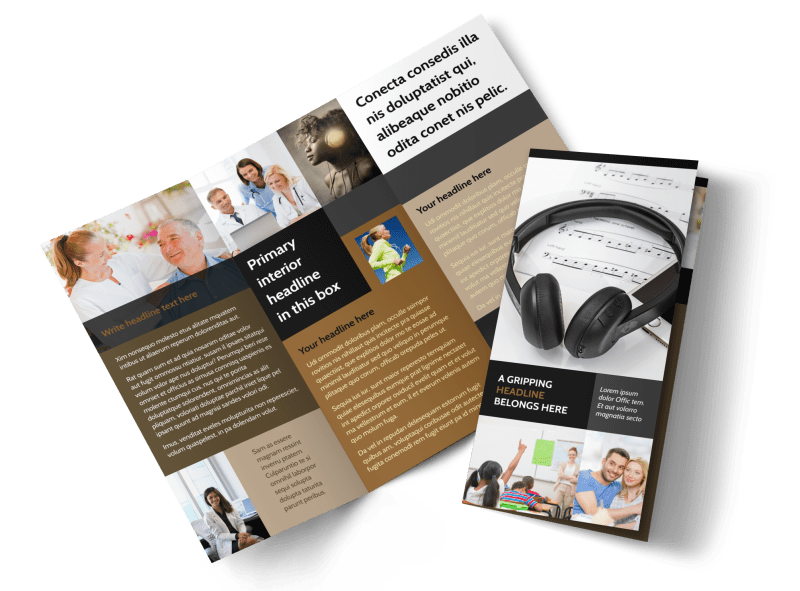 Hearing Specialists Brochure Template Preview 1