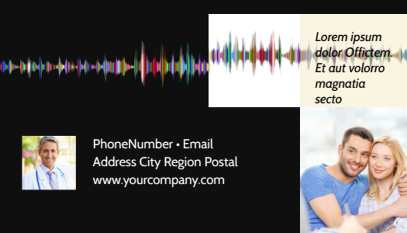 Hearing Specialists Business Card Template Preview 3