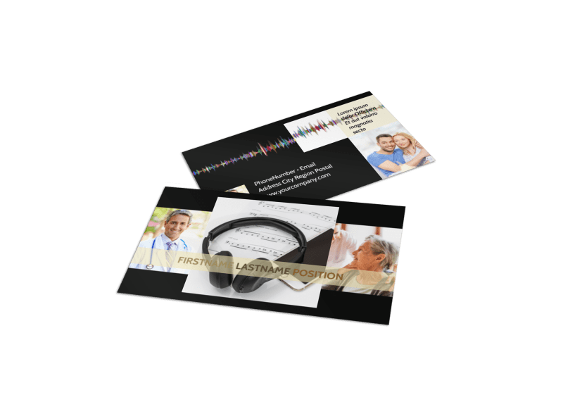 Hearing Specialists Business Card Template Preview 1