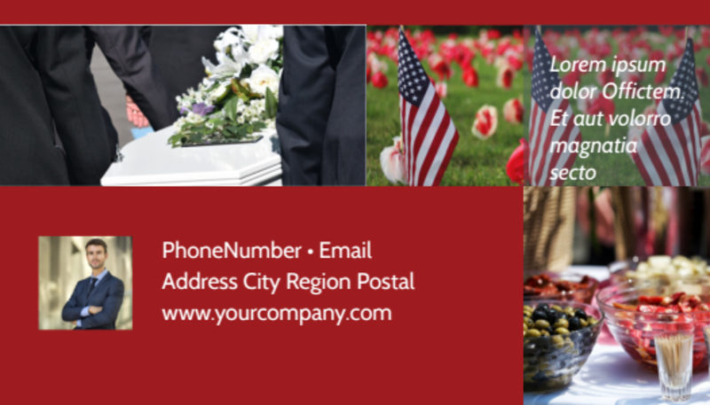 Memorial Services Business Card Template Preview 3