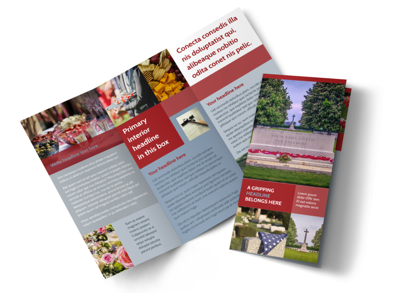 Memorial Services Brochure Template Preview 4